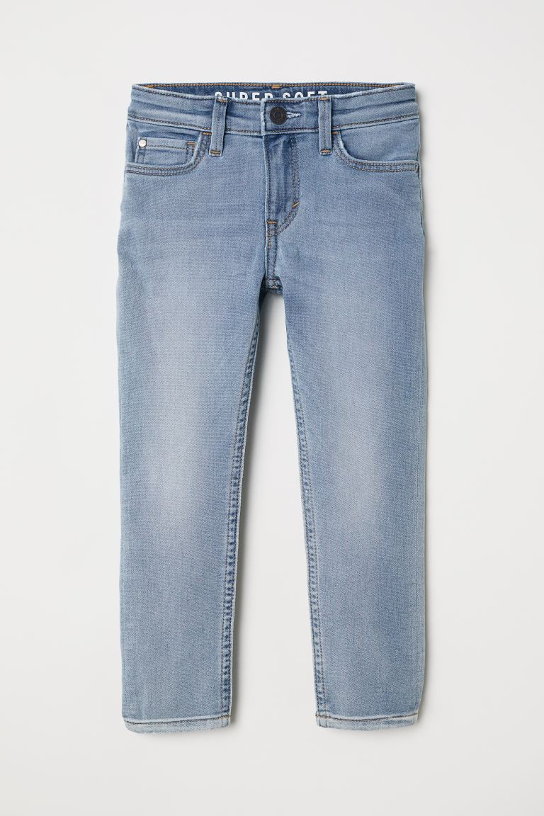 Super Soft Skinny Fit Jeans - Bleu denim clair - ENFANT | H&M FR