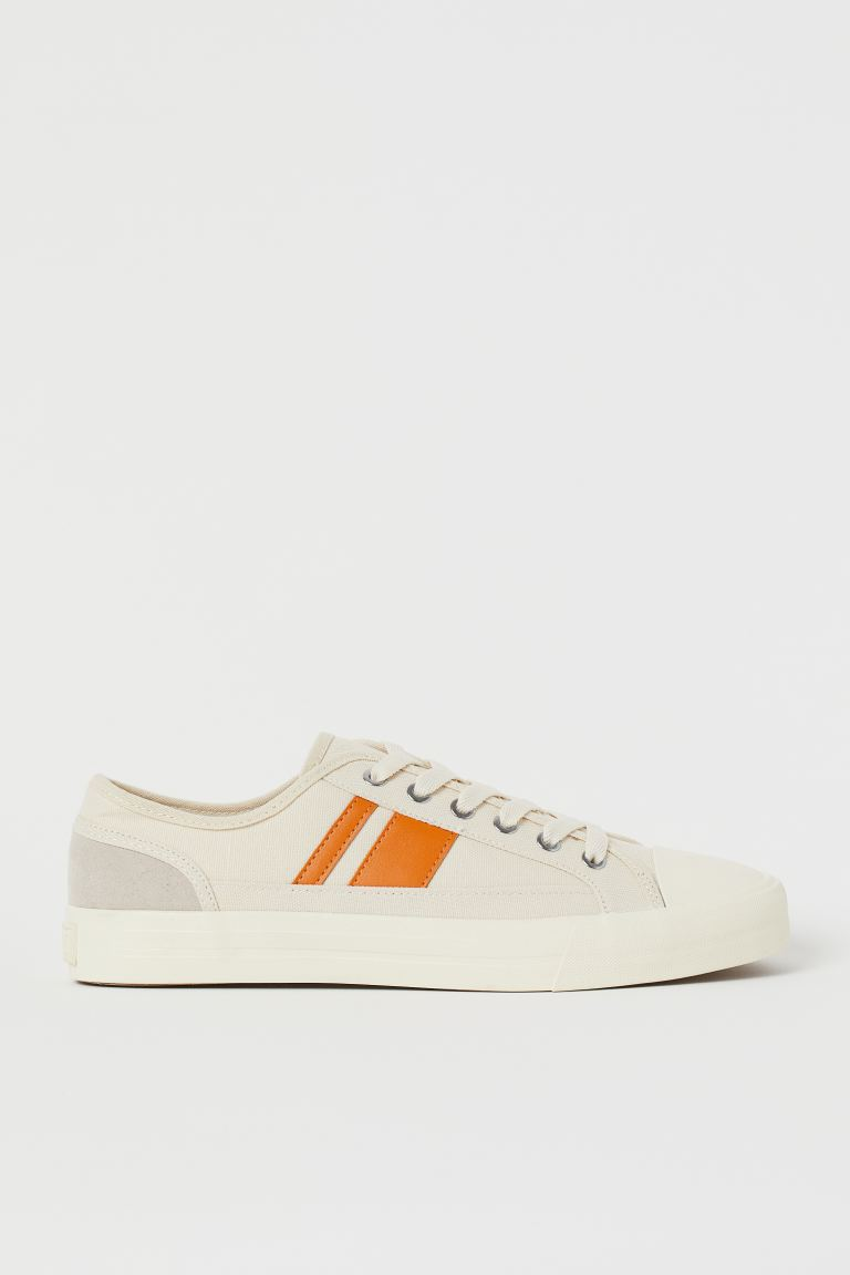 Canvas trainers - Hellbeige/Orange -  | H&M DE