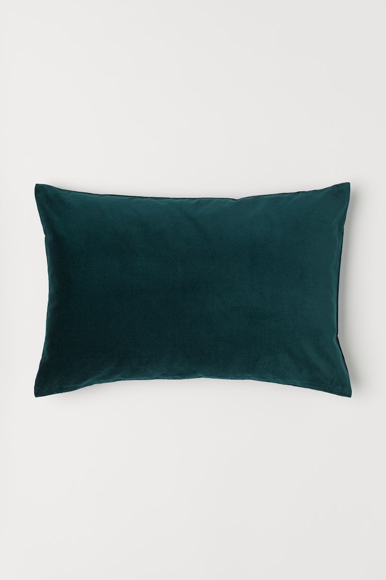 Cotton Velvet Cushion Cover Dark