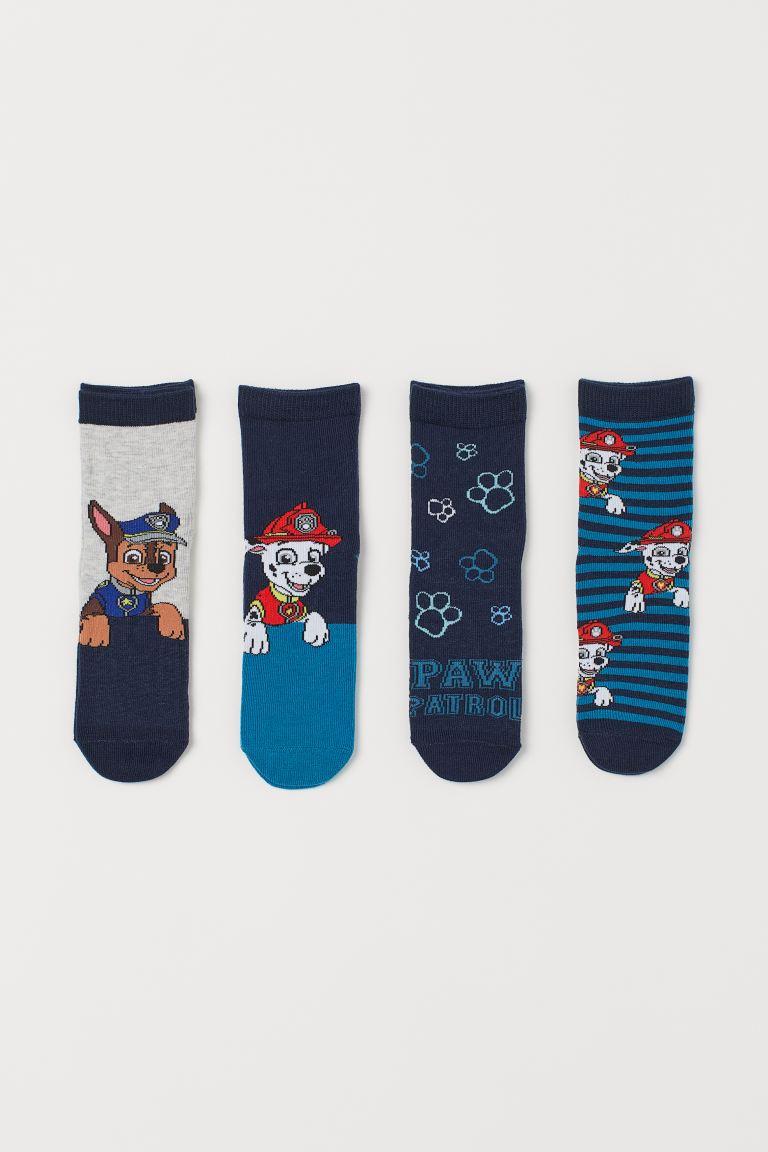 4 paria kuviollisia sukkia