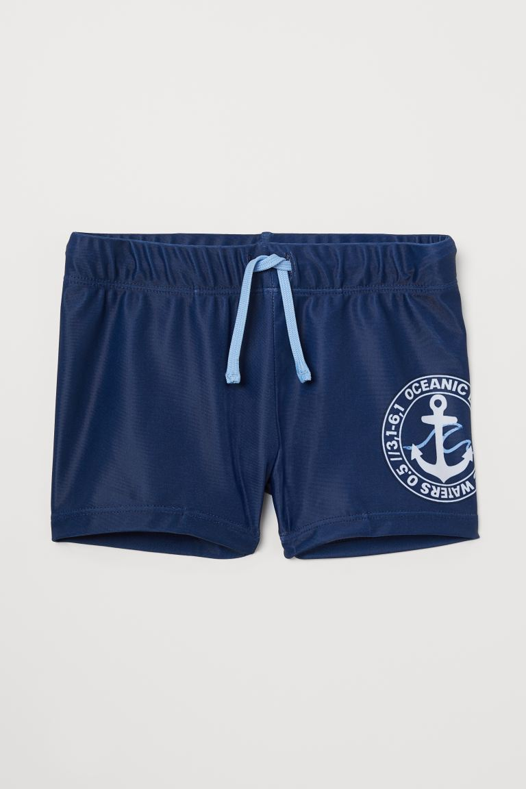 Swim Trunks - Dark blue/anchor - Kids | H&M US