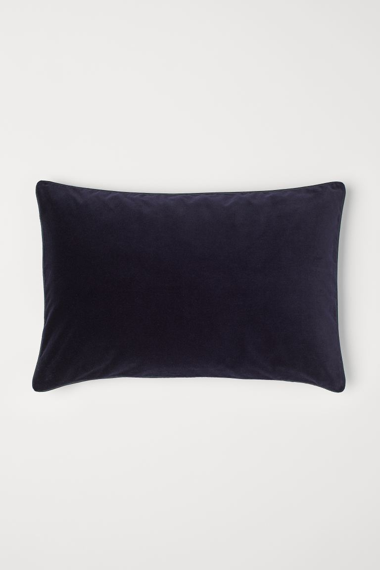 Copricuscino in velluto - Blu scuro - HOME | H&M IT