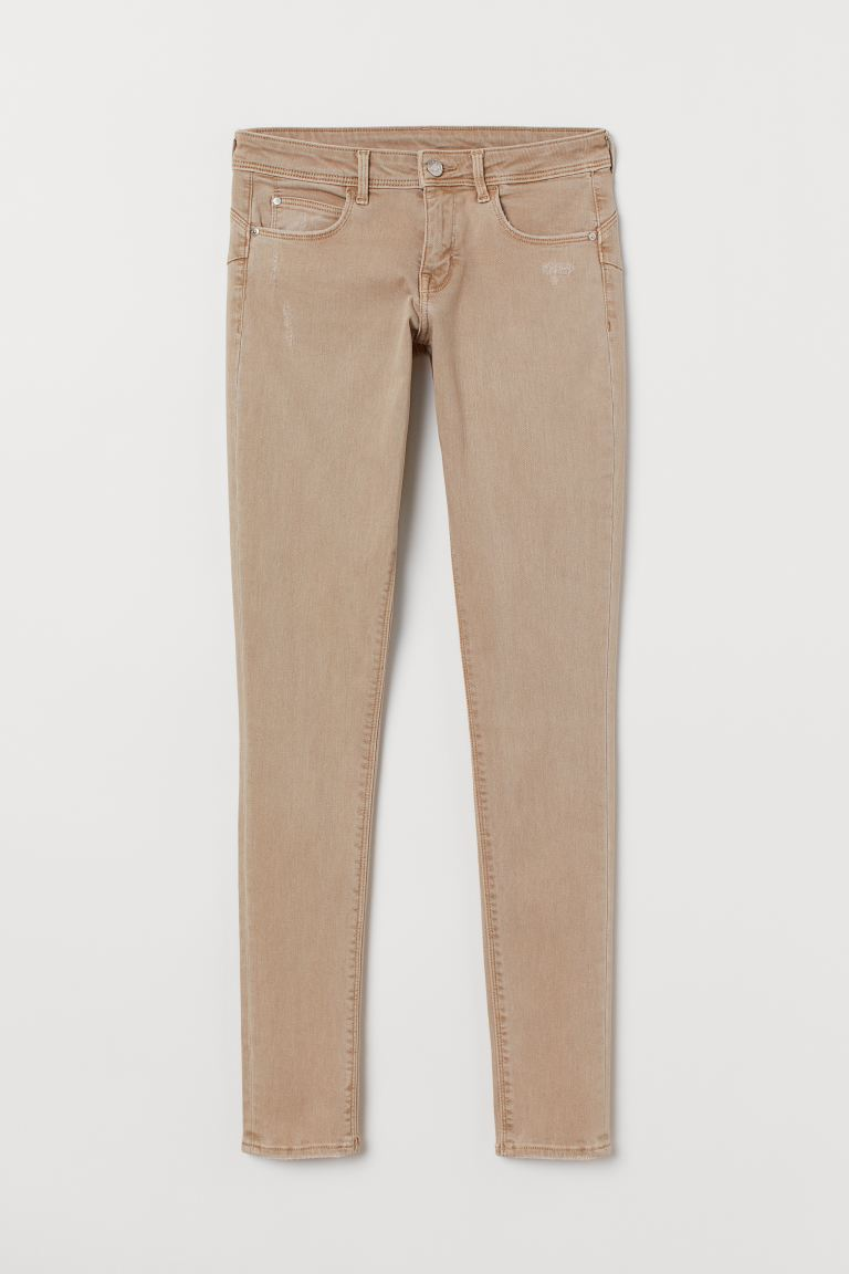 Push up Low Jeggings - Beige - Ladies | H&M GB