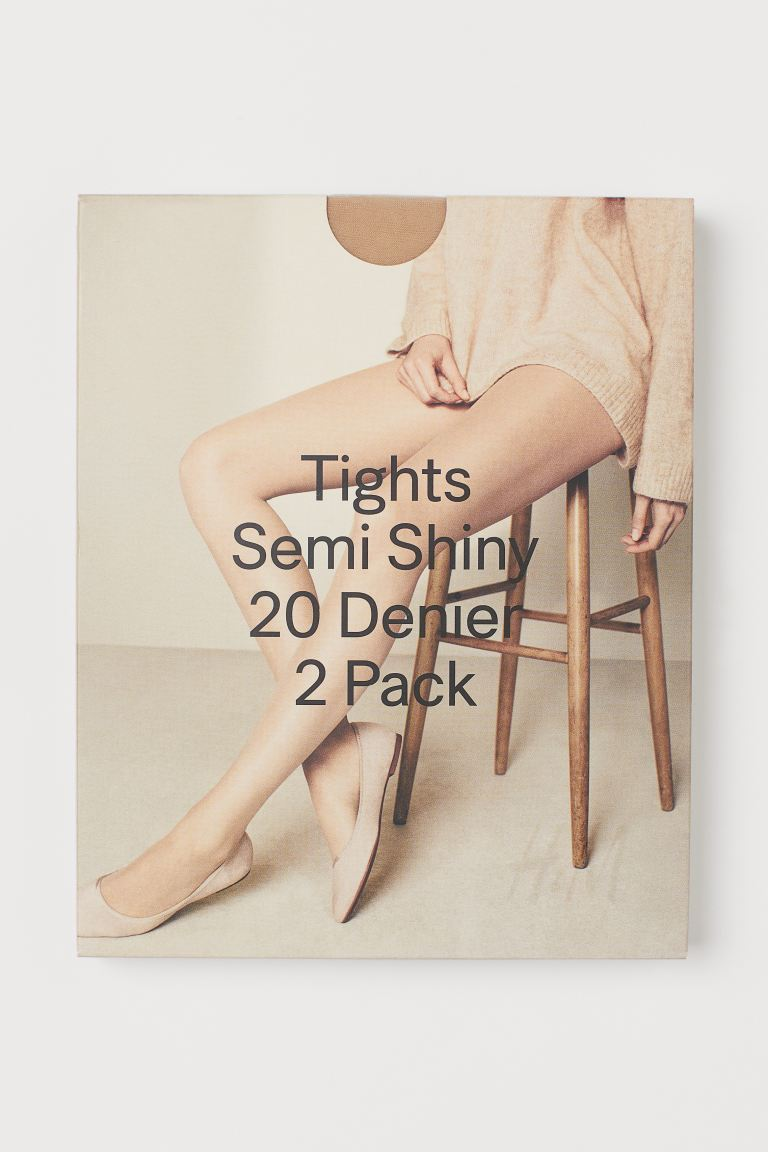 Collants 20d, lot de 2 - Beige -  | H&M BE
