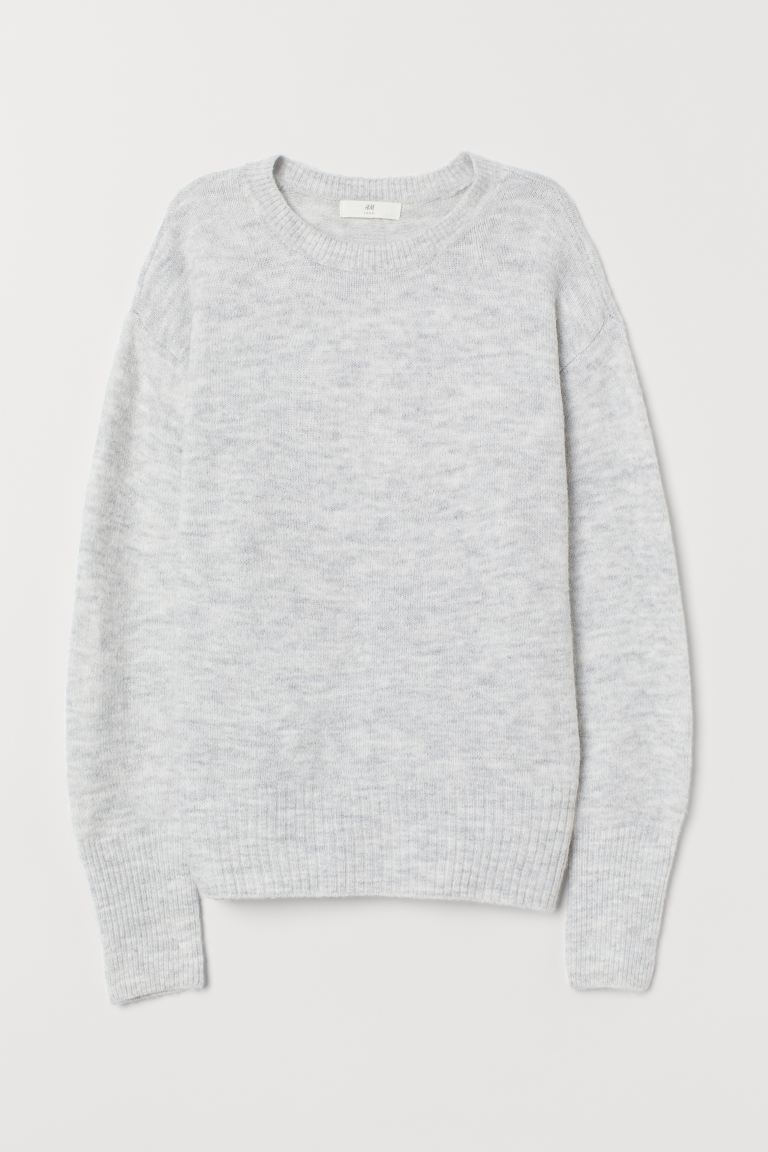 Knitted jumper - Light grey marl - Ladies | H&M IE