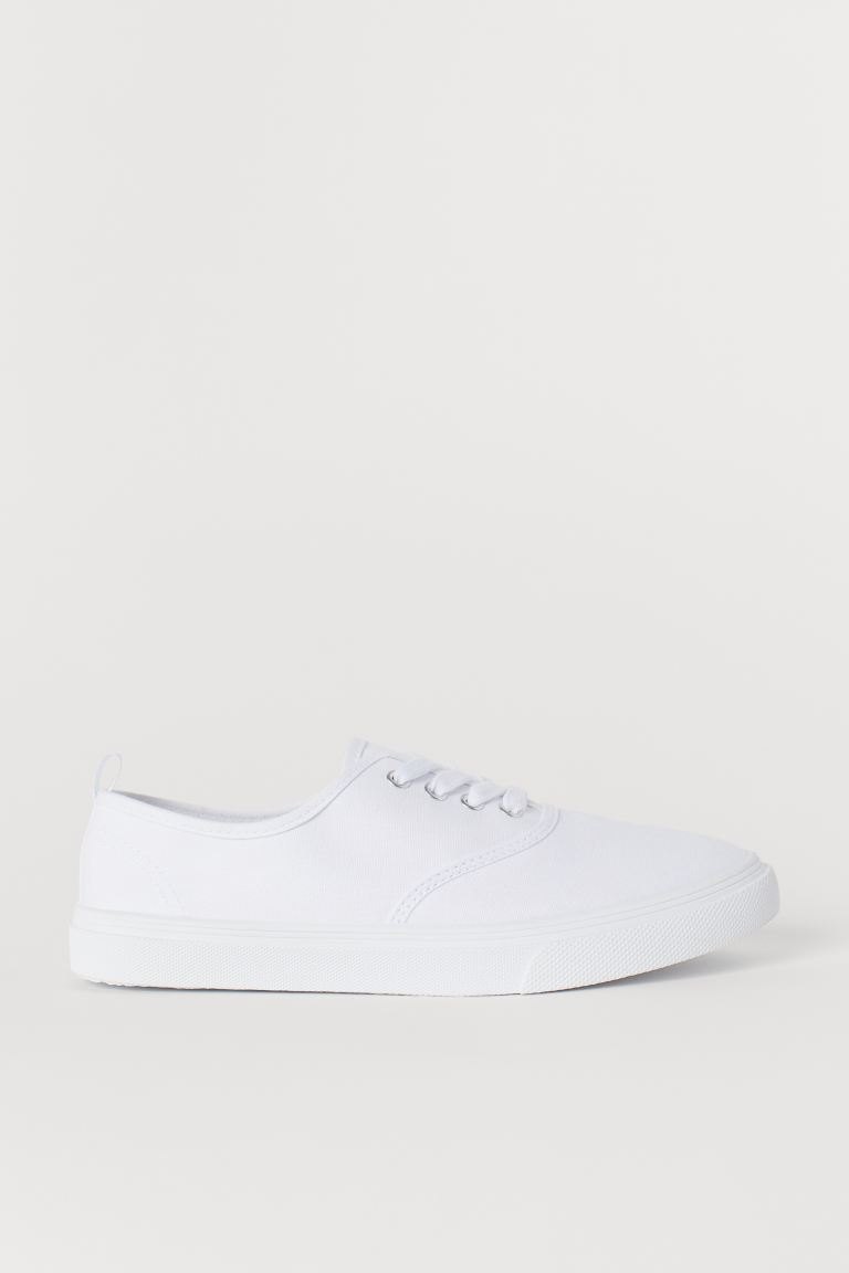 Canvas Sneakers - White -  | H&M US