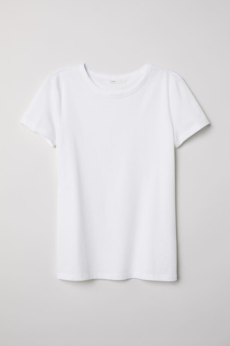 T-shirt - White - Ladies | H&M GB