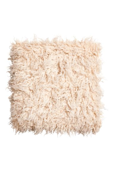 Faux Fur Seat Cushion - Natural white - Home All | H&M CA