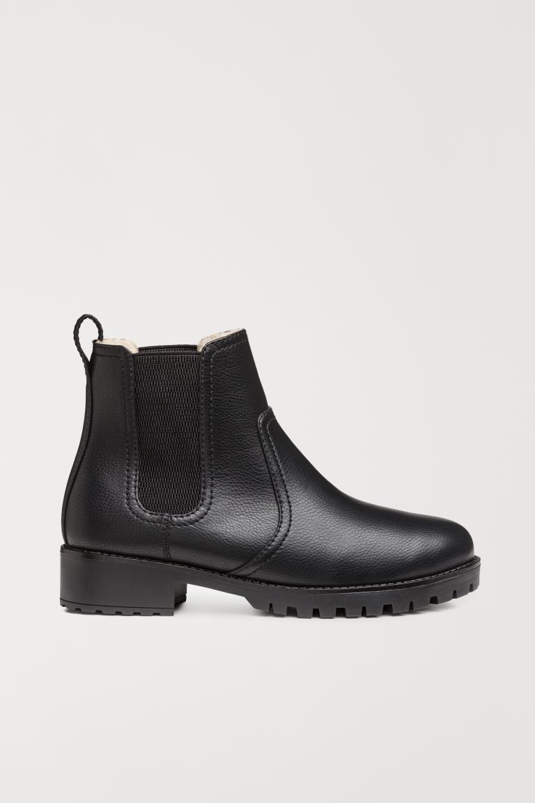 Warm-lined Chelsea boots - Black - Ladies | H&M GB