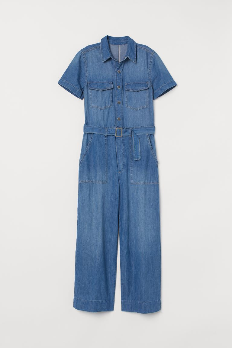 Denim Jumpsuit - Denim blue - Ladies | H&M US