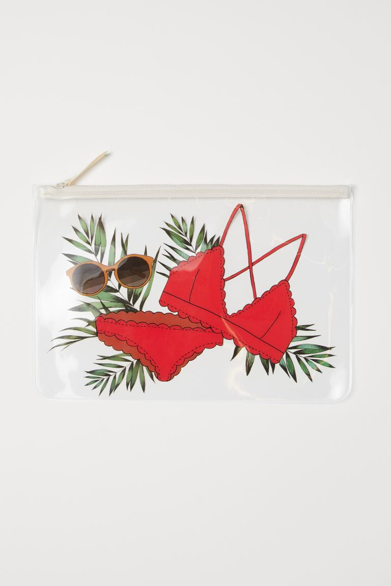 Transparent pouch bag - Red/Bikini - Ladies | H&M