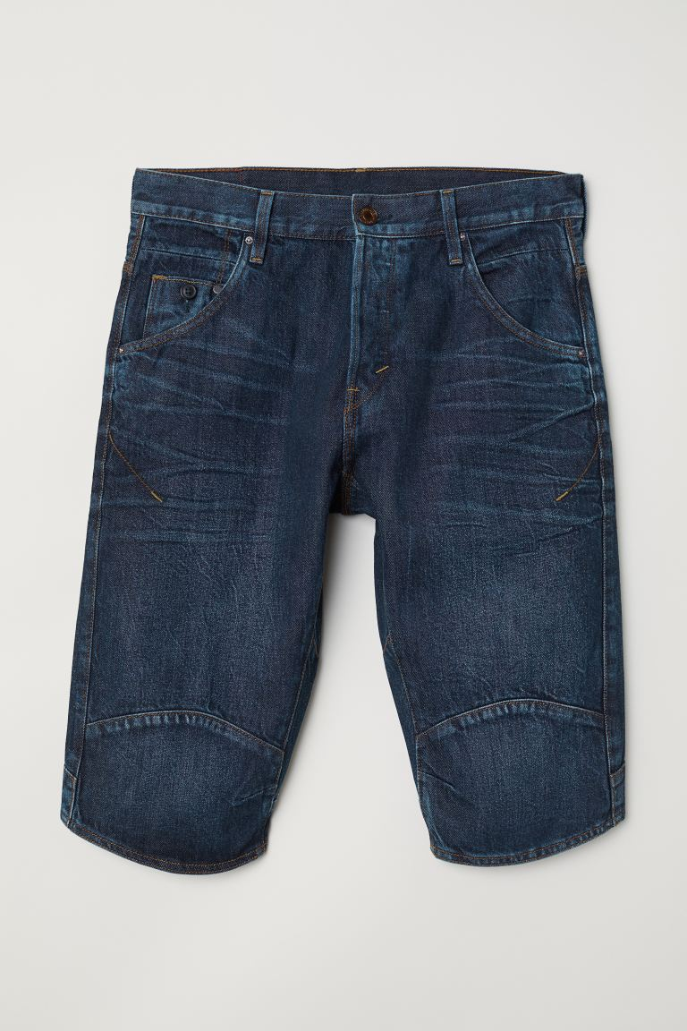 Jeansshorts Straight Fit - Dunkelblau - Men | H&M DE