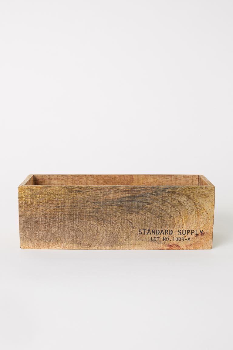 Small wooden storage box - Light wood - Home All | H&M GB