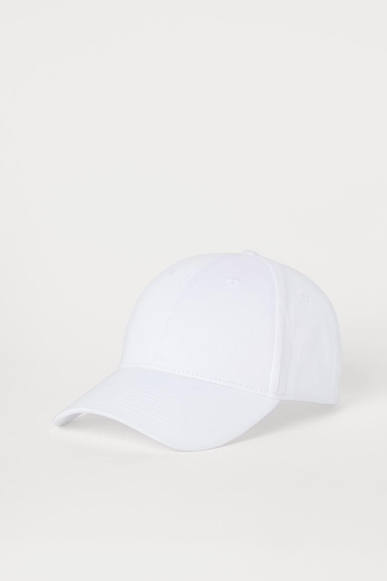 Cotton twill cap - White - Men   H&M GB