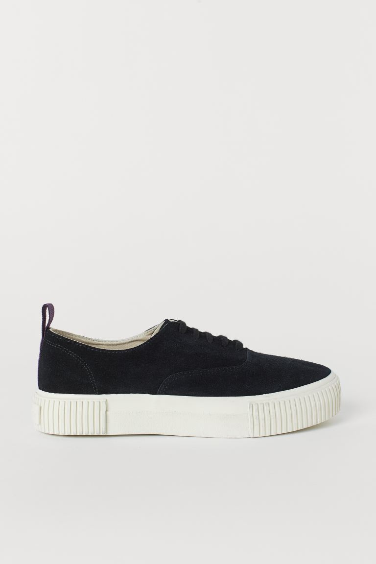 Sneaker aus Veloursleder - Schwarz - Men | H&M AT
