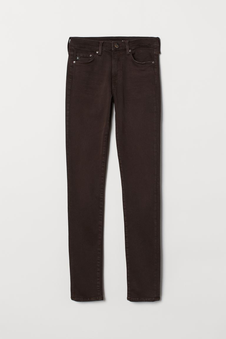 Shaping Skinny Regular Jeans - Dark brown - Ladies | H&M US