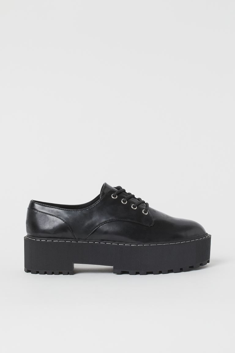 Platform Derby shoes - Black - Ladies | H&M