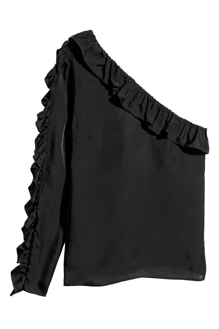 One-shoulder Blouse - Black - Ladies | H&M US