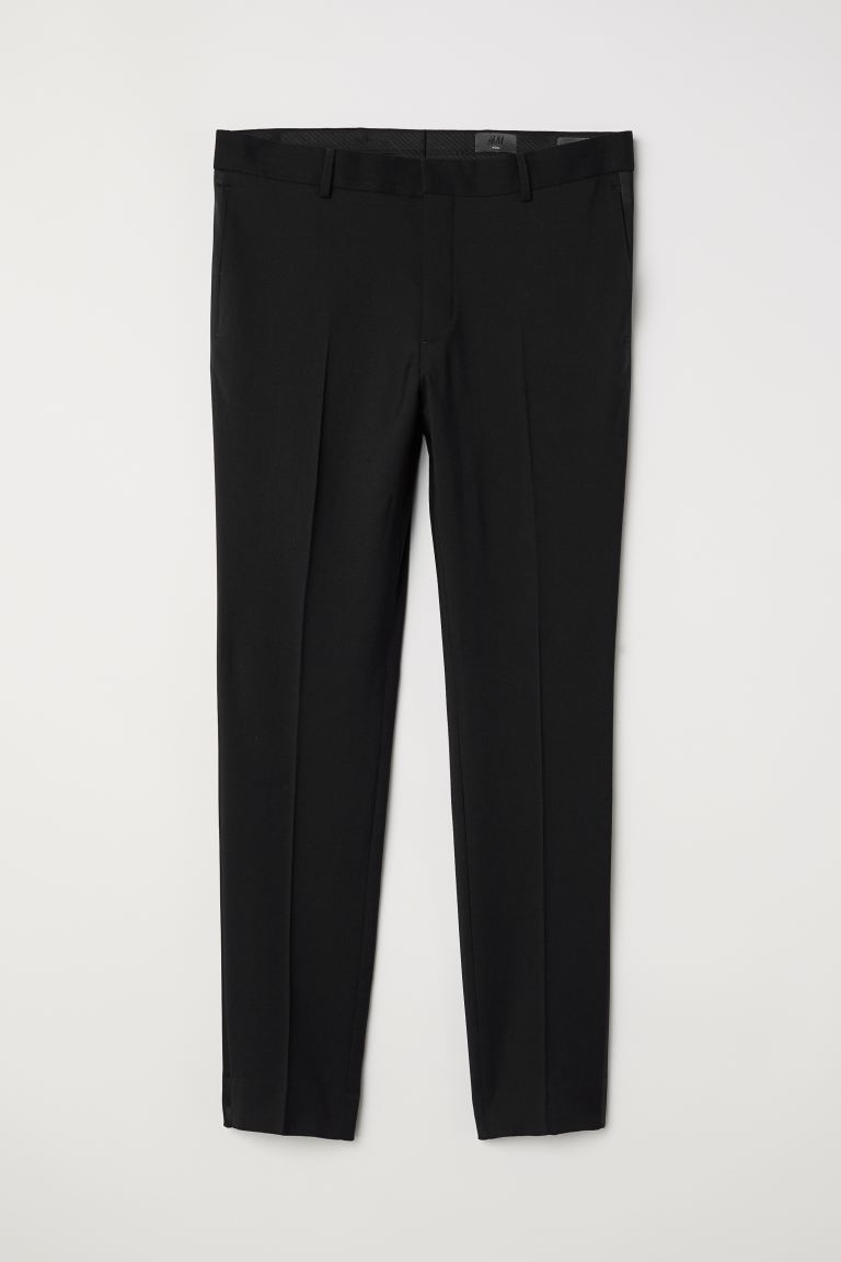 Pantaloni smoking Skinny fit - Nero - UOMO | H&M IT