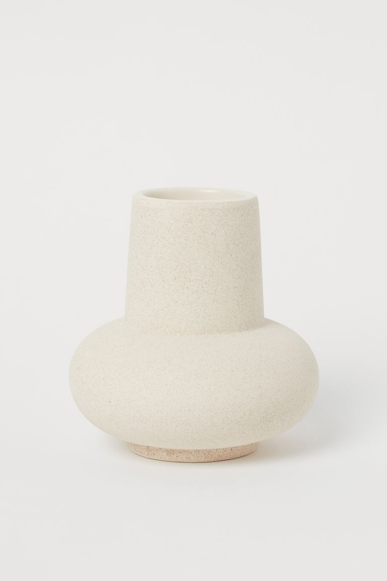 Small Ceramic Vase - Light beige - Home All | H&M US 1