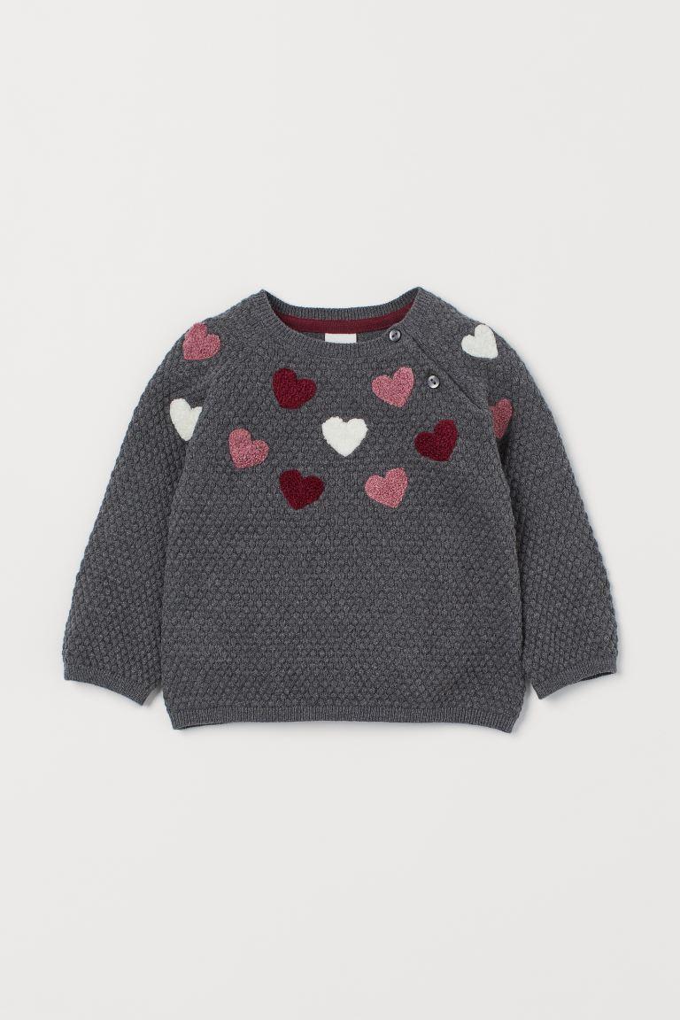 Textured-knit jumper