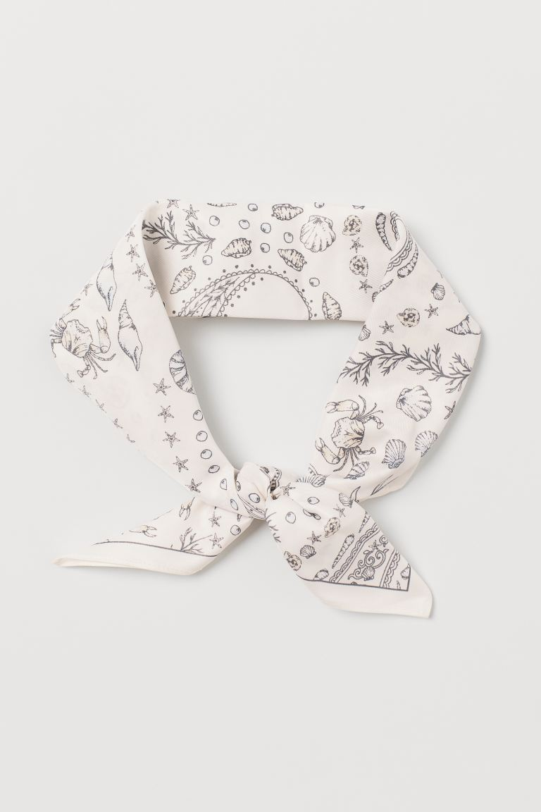 Scarf/Hairband - Cream/paisley-patterned - Ladies | H&M CA