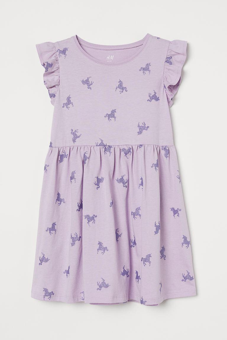 Jersey dress - Light purple/Glitter -    H&M GB