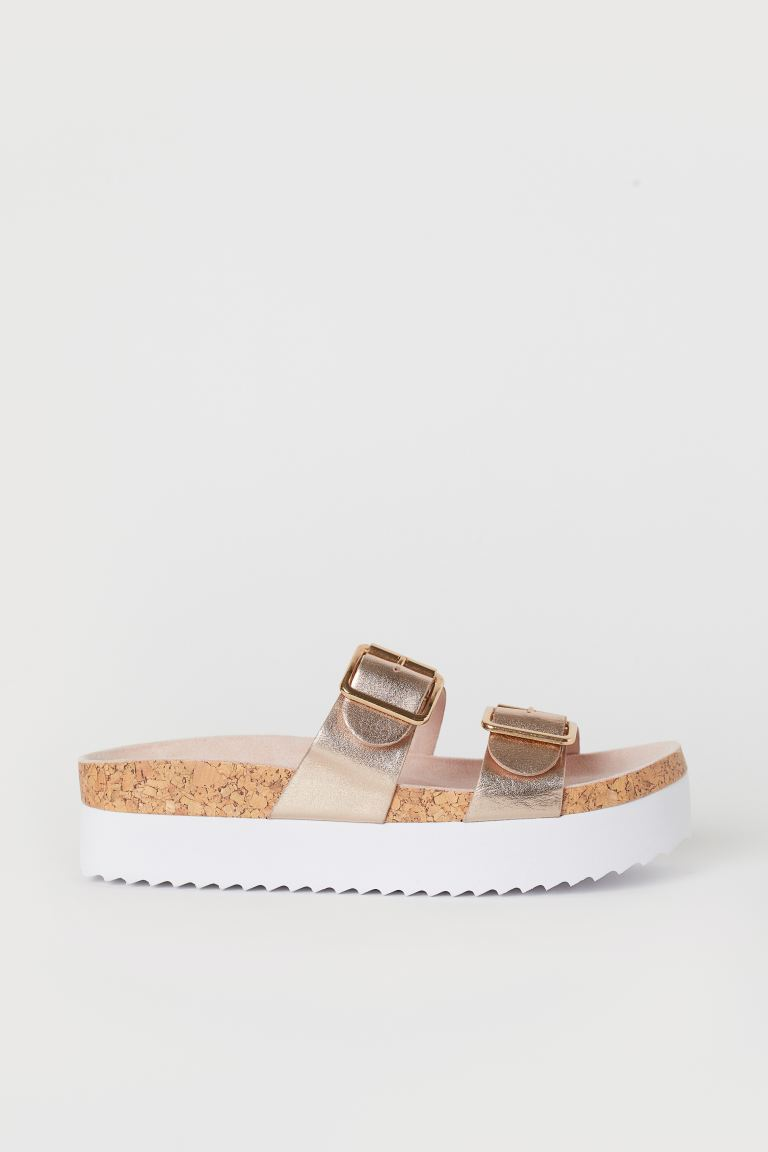 Platform Sandals - Rose gold-colored -  | H&M US