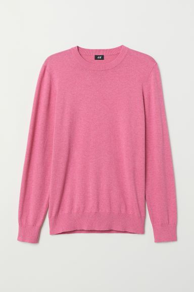 Fine-knit Sweater - Pink melange - Men | H&M CA