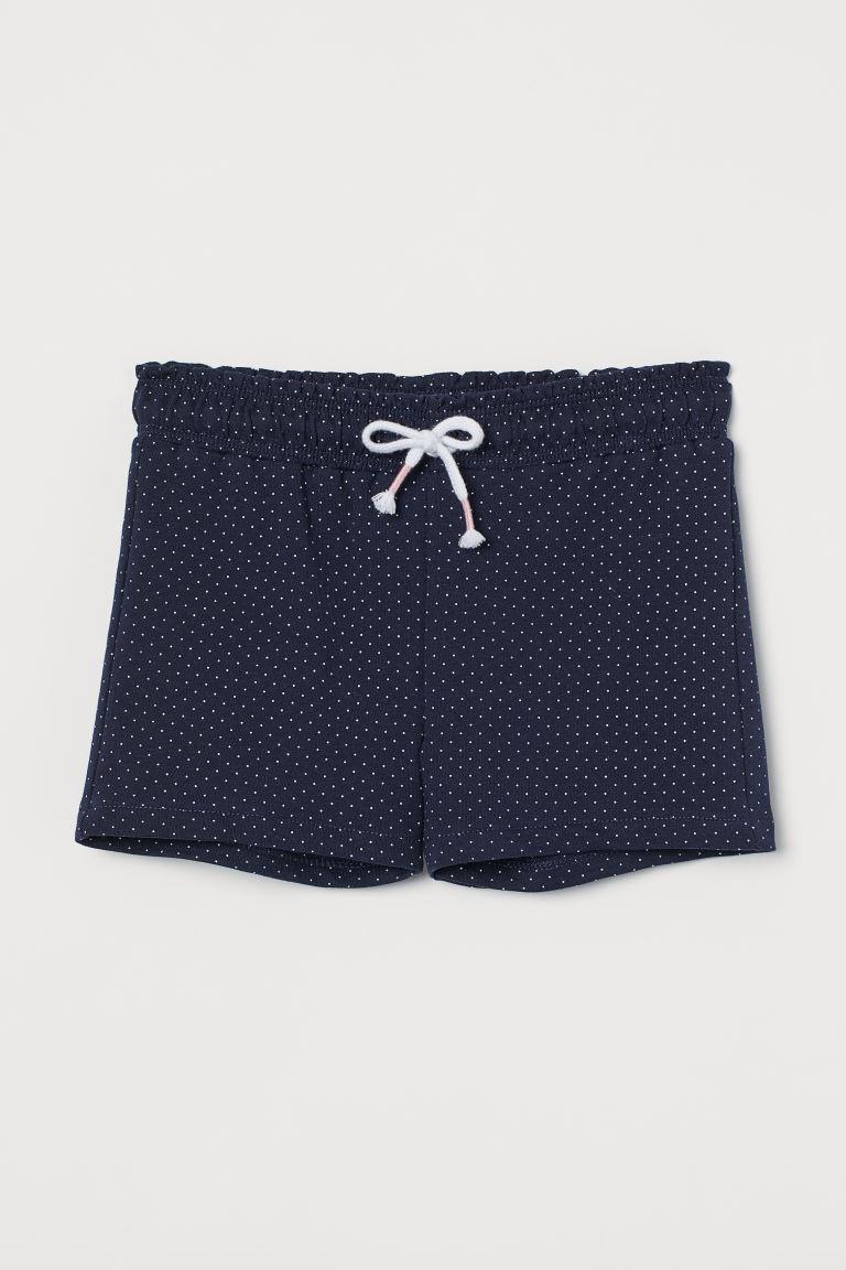 Sweatshirt shorts - Dark blue/White spotted - Kids | H&M GB
