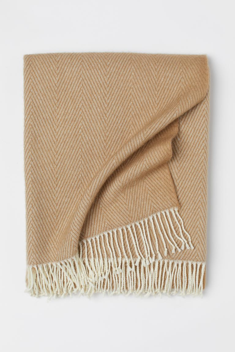 Wool-blend blanket - Beige - Home All | H&M GB