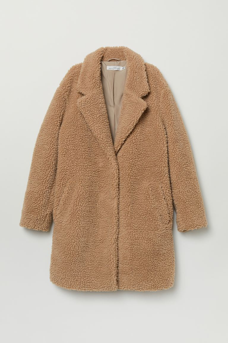 lower price with cheap price classic shoes Short pile coat - Beige - Ladies | H&M
