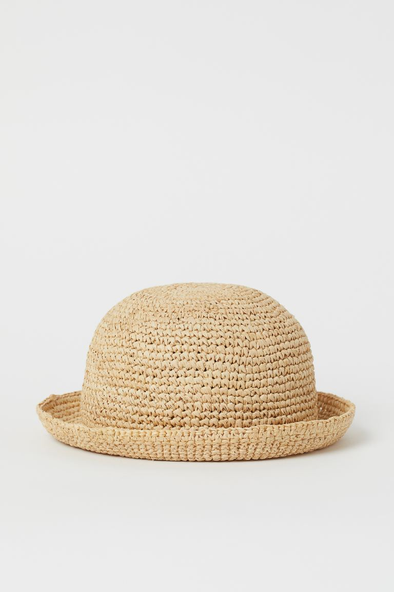 Round straw hat - Beige - Kids | H&M GB