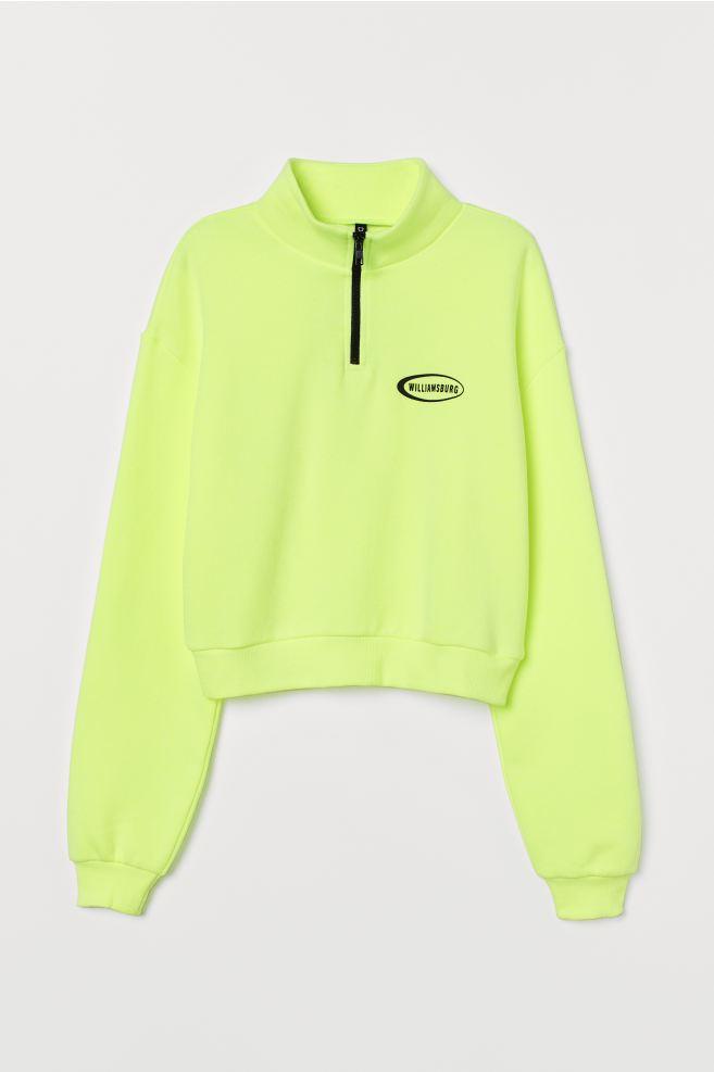 sweatshirts femme fluo