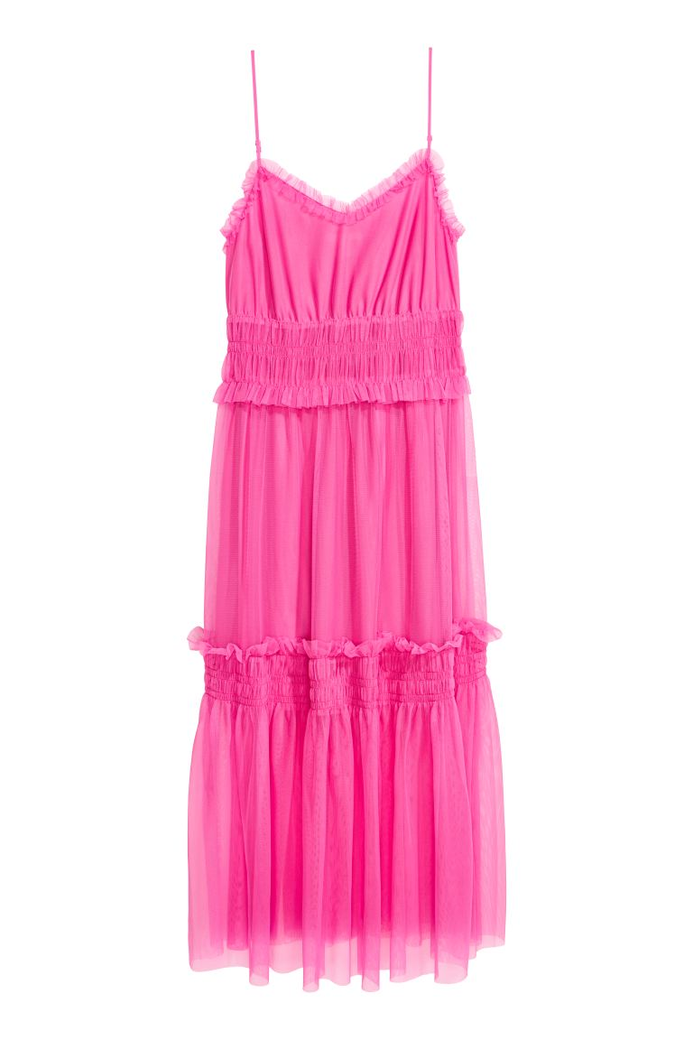 Mesh dress - Neon pink - Ladies | H&M GB