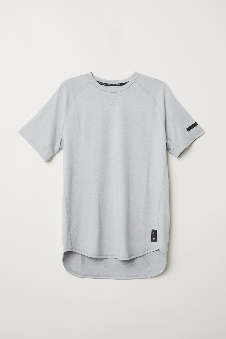 Sports top Loose Fit - Light grey marl - Men | H&M