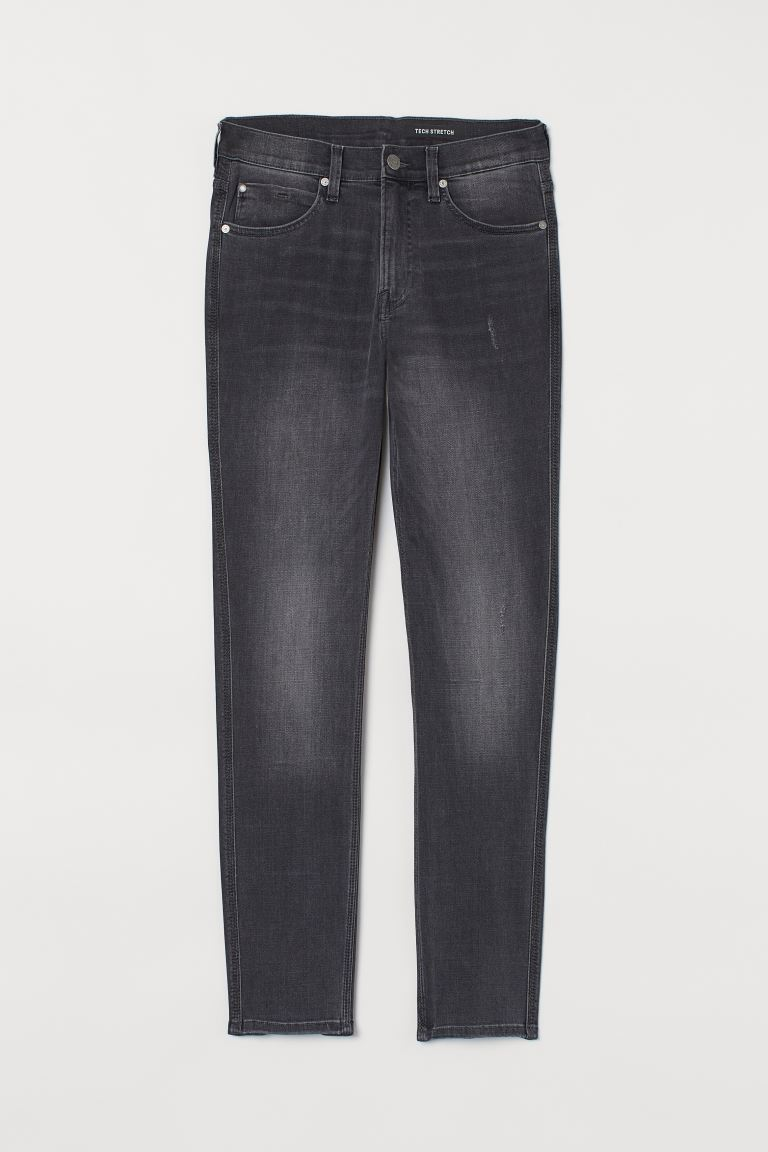 Tech Stretch Slim Jeans - Dark grey - Men | H&M