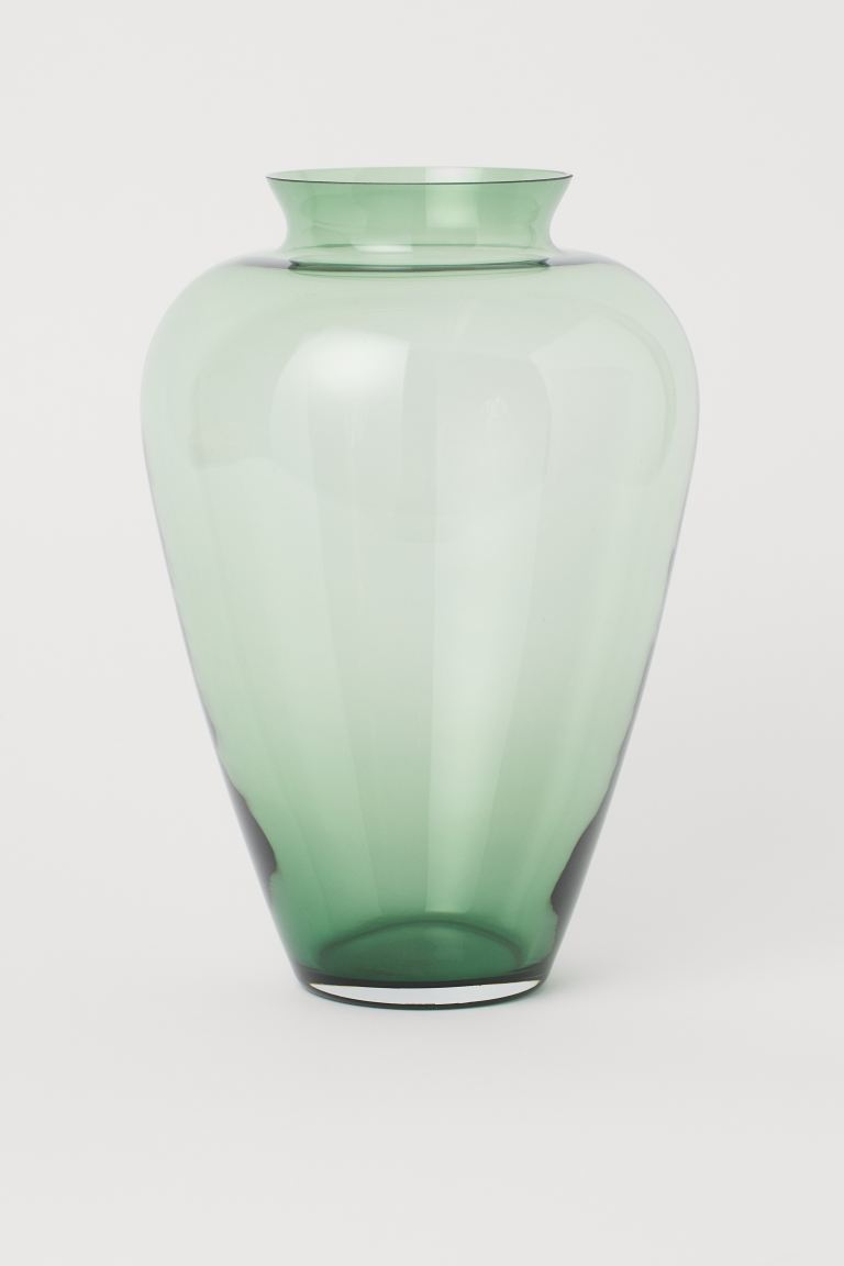 Large Glass Vase - Green - Home All | H&M US