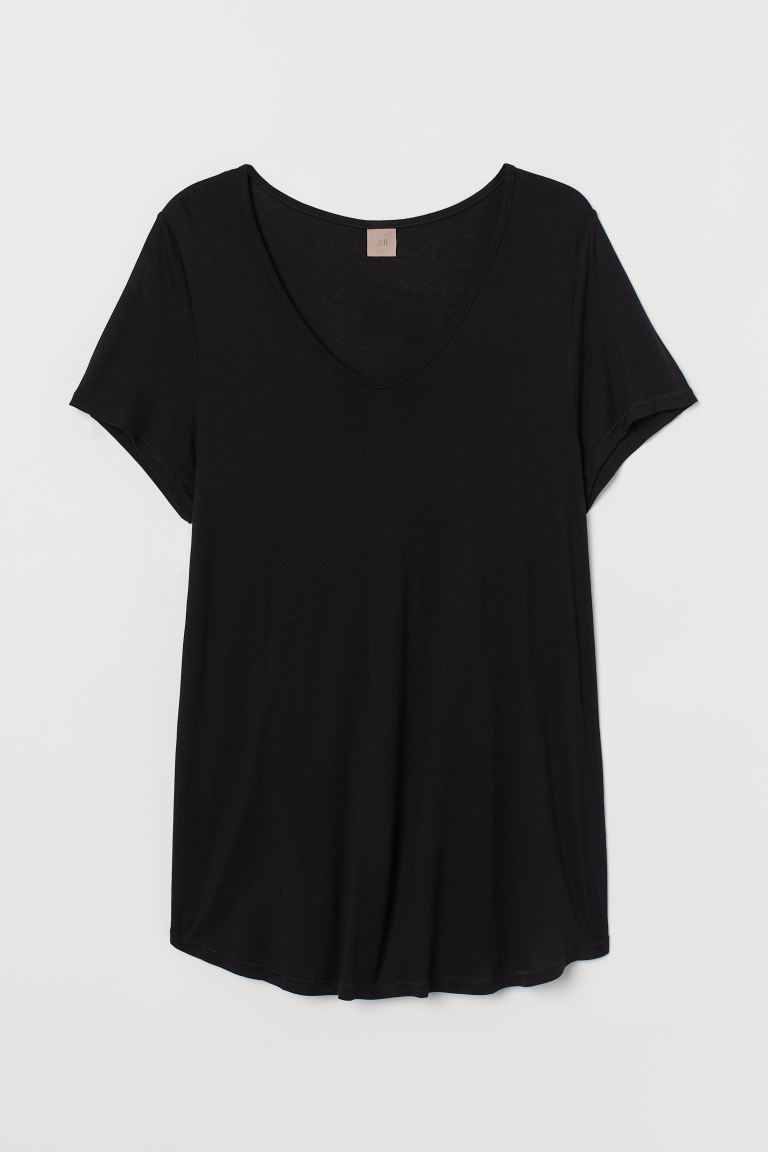 H&M+ Top in jersey - Nero - DONNA | H&M IT