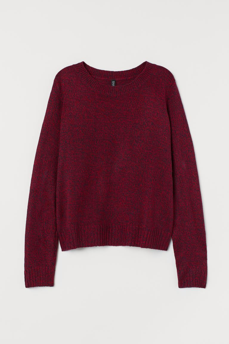 Knitted jumper - Red marl - Ladies | H&M GB