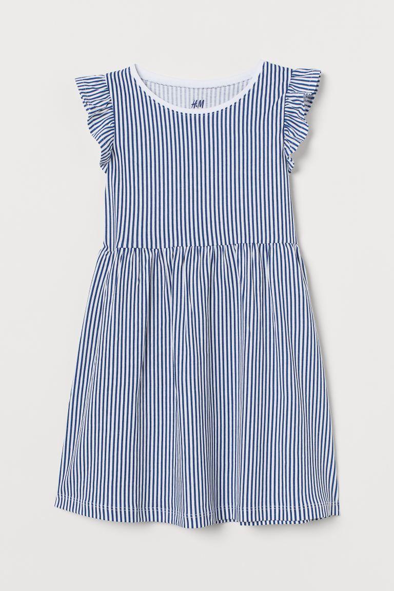 Jersey dress - Blue/White striped -    H&M GB