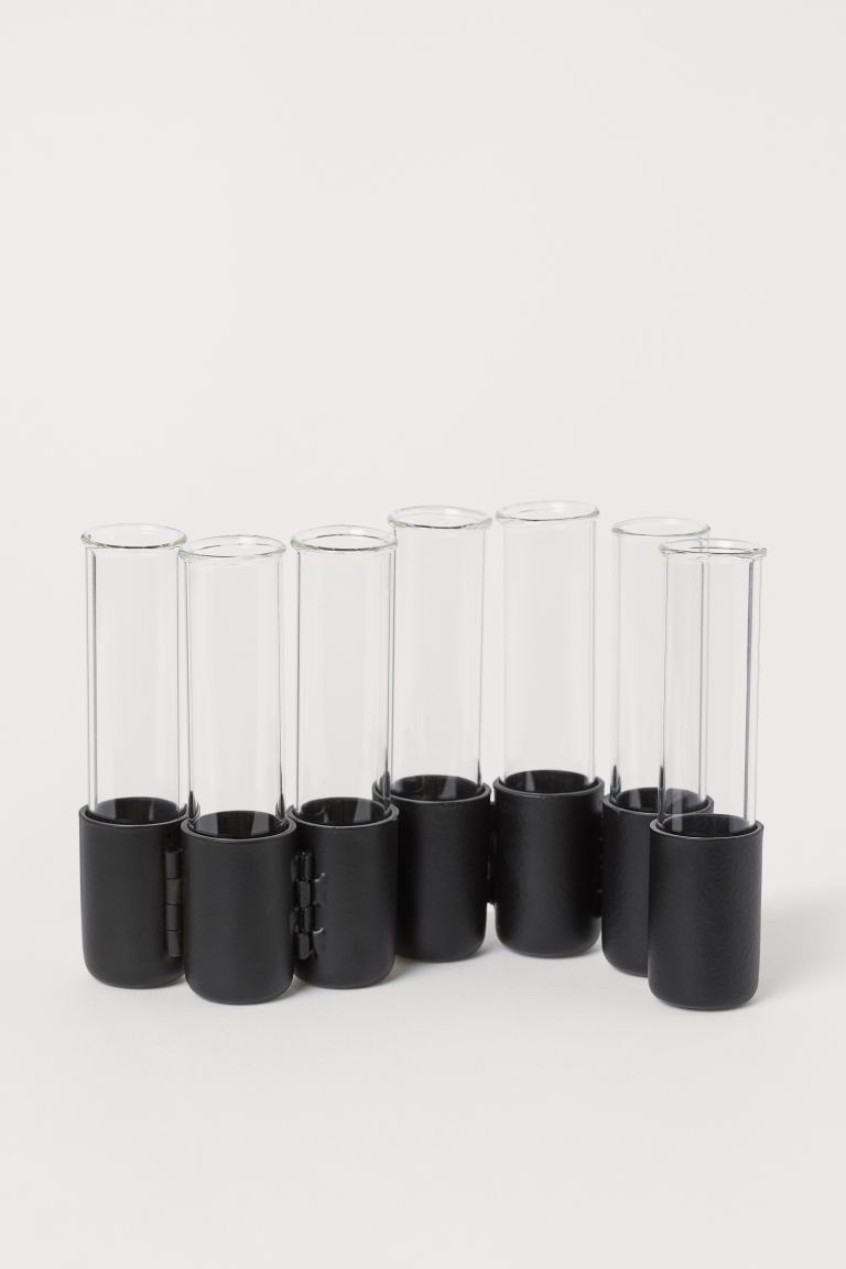 Metal and Glass Vase - Black/clear glass - Home All | H&M US