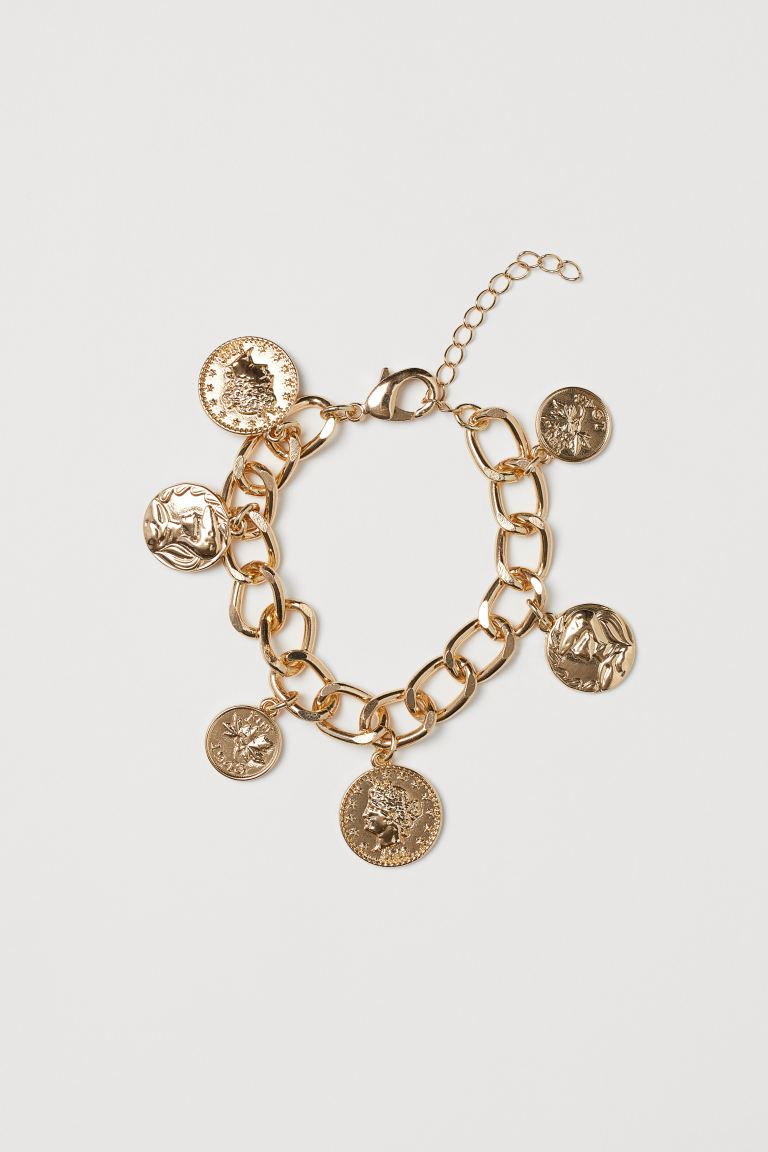 Bracelet with pendants - Gold-coloured - Ladies | H&M GB