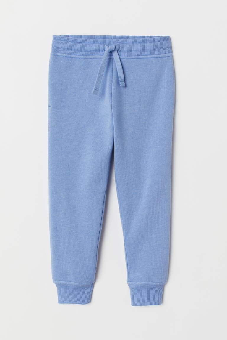 Cotton-blend Joggers - Blue melange - Kids | H&M US