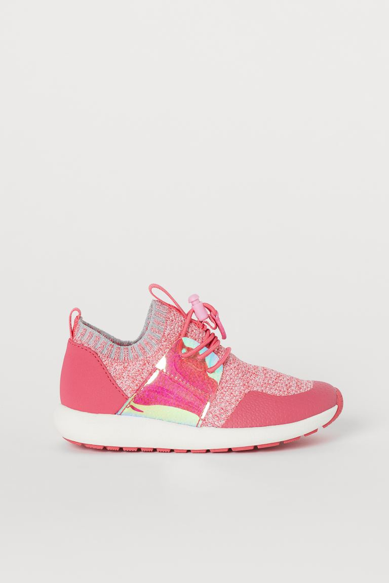Fully-fashioned trainers - Pink/Glittery -    H&M GB
