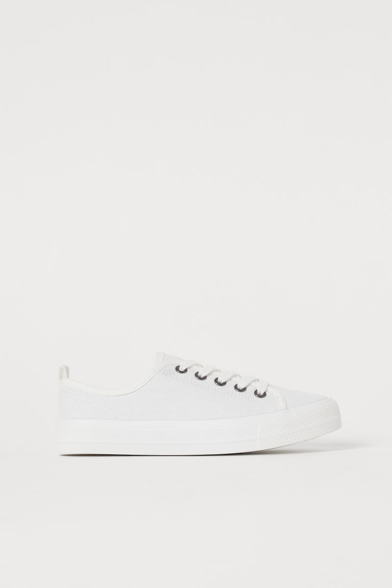 Sneakers i canvas - Hvit - BARN | H&M NO