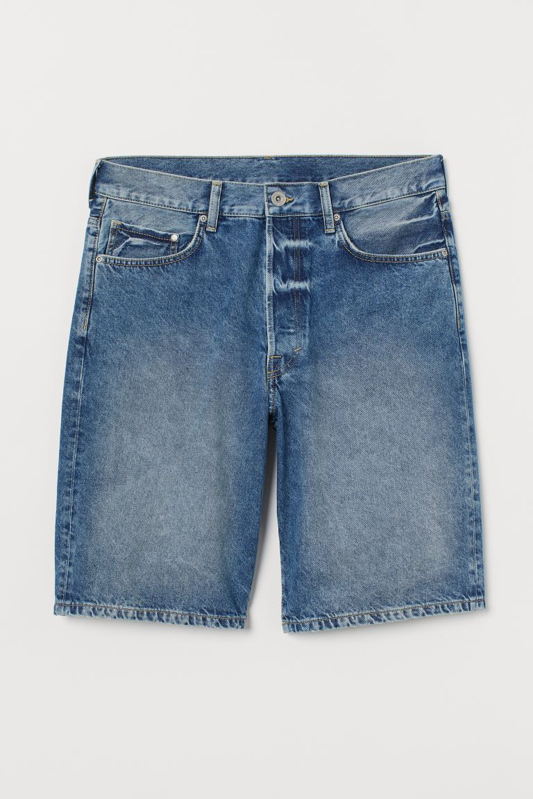 Loose Denim shorts - Light denim blue - Men | H&M