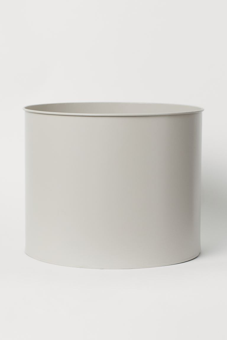 Extra-large Metal Plant Pot - Light beige - Home All | H&M US