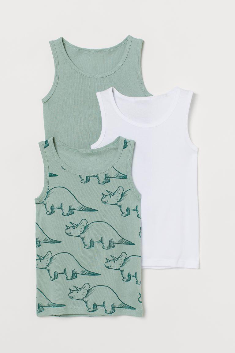 3-pack cotton vest tops