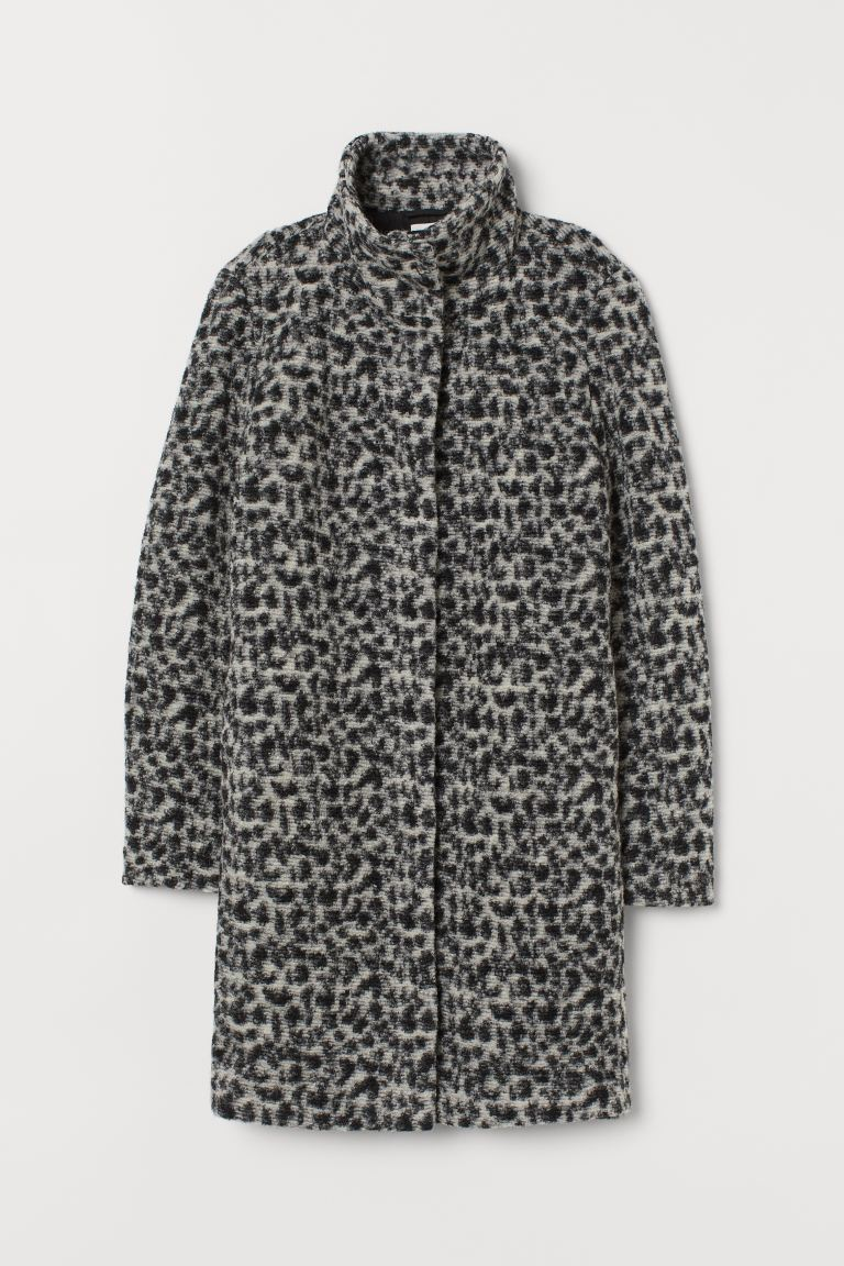 Wool-blend Coat - Black/leopard print - Ladies | H&M CA